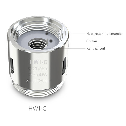 Испаритель Eleaf HW1-C Single-Cylinder 25-50W 0.25ohm (Ello, Nextgen)